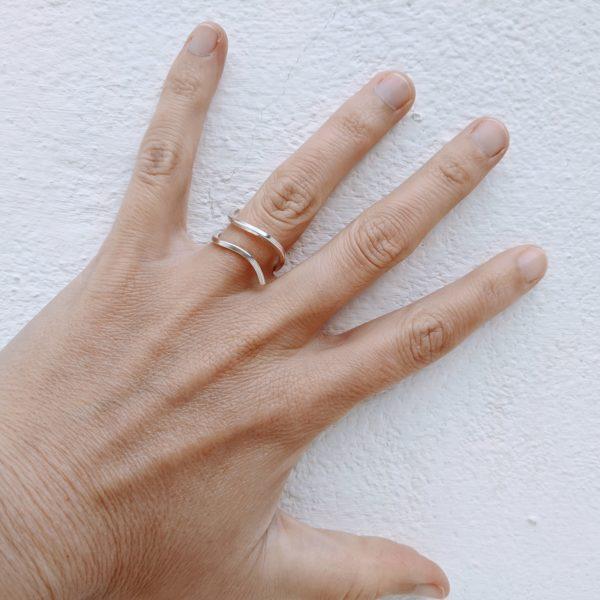 anillo de plata artesanal lanzarote fardatxeta joies