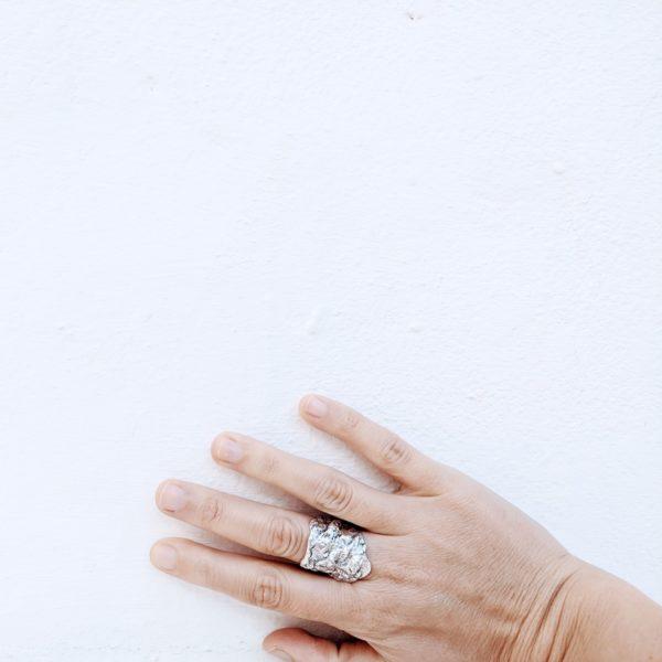 anillo artesanal de plata fardatxeta joies