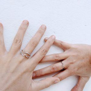 anillo de plata artesanal