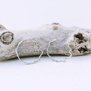 pendientes artesanales de plata fardatxeta joies