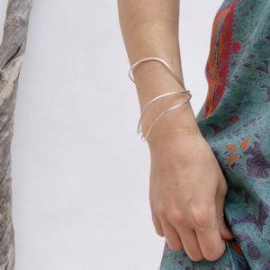 pulsera artesanal de plata