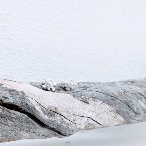 pendientes artesanales de plata novia